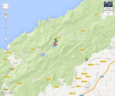 Mapa con las localizaciones importantes de la aventura