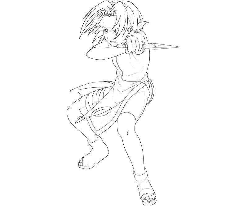 Naruto sakura fighting how coloring for Naruto sakura coloring pages