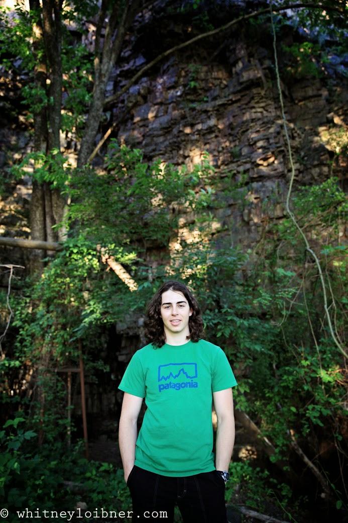 senior photos, whitney loibner photography, boy senior, rock climbing, ropes