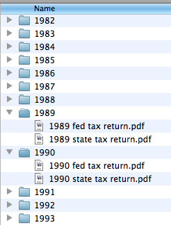 tax files on computer