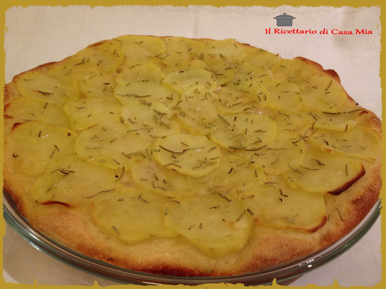 Pizza Alle Patate Recipe — Dishmaps
