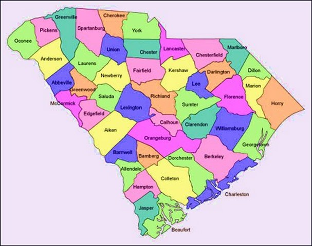 South Carolina Map With Cities Counties Map Of USA States - Georgia map by county and city