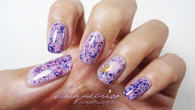 Lacqueerisa: Blueberry Ice-Cream Nails