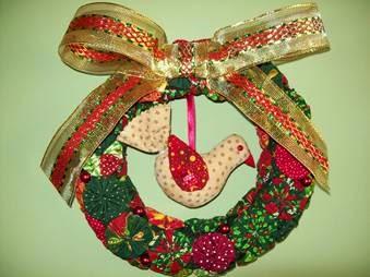Como fazer decoração de Natal com fuxico
