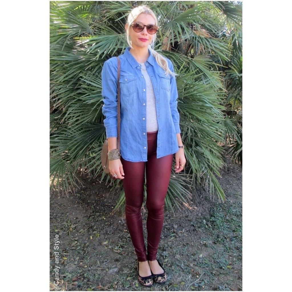 Denim and Burgundy