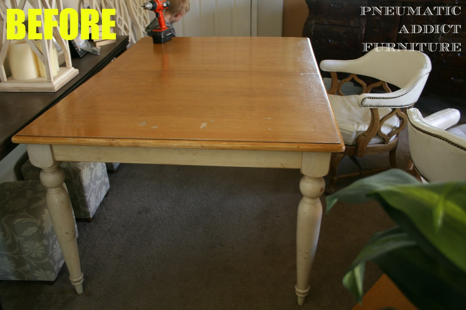 pneumatic addict : my kitchen table: before and afterand after