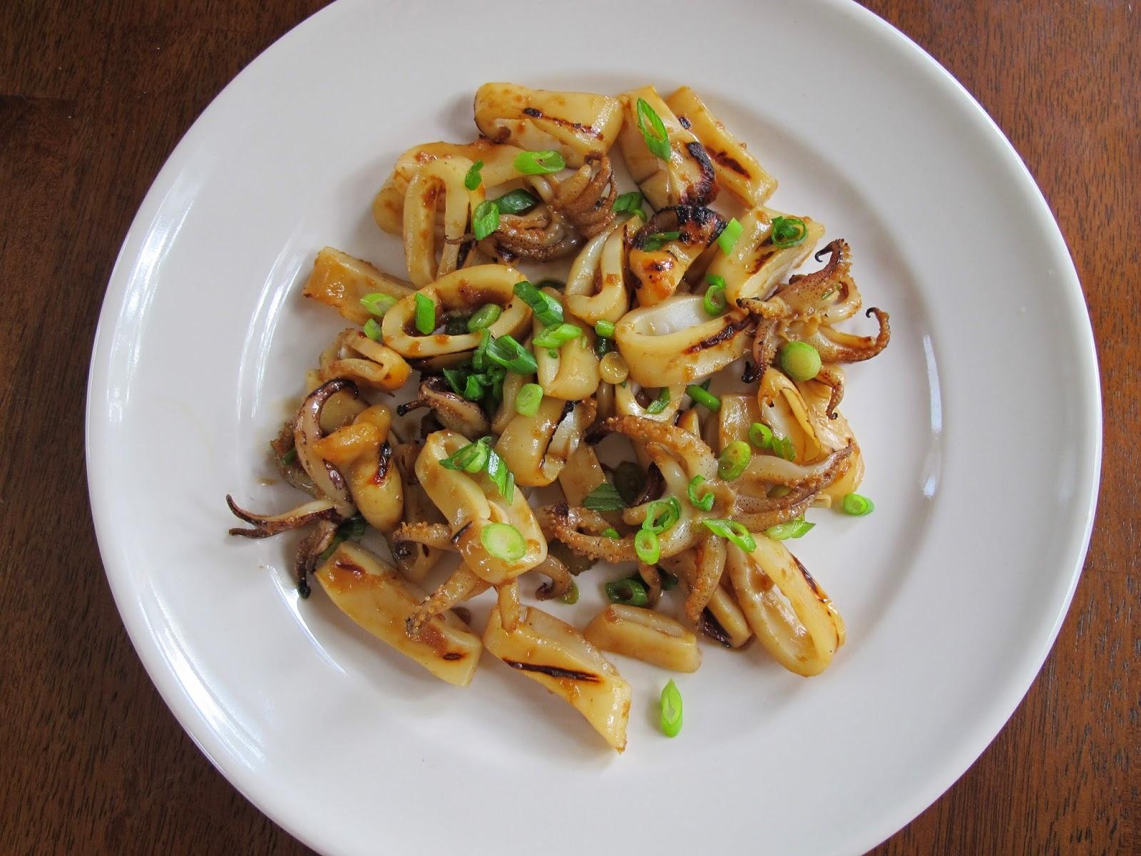 Grilled Japanese Calamari Squid