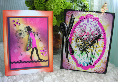 2 cards by lavinia challenge # 9 hot bright colors