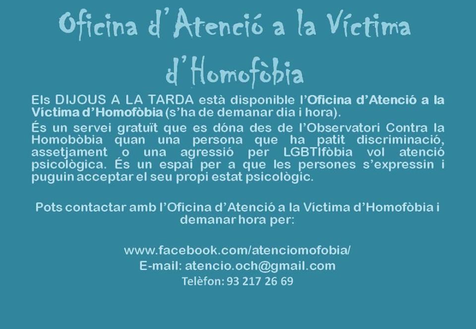 ATENCIÓ VÍCTIMA LGTBIfòbia