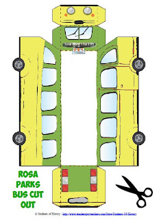 Students of history two new 3d foldable lessons for for Rosa parks bus coloring page
