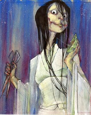 """Kuchisake-onna """"La Mujer de la boca cortada"""" Kuchisake_Onna_by_umber"""