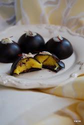 Sáfrányos-gyömbéres bonbon