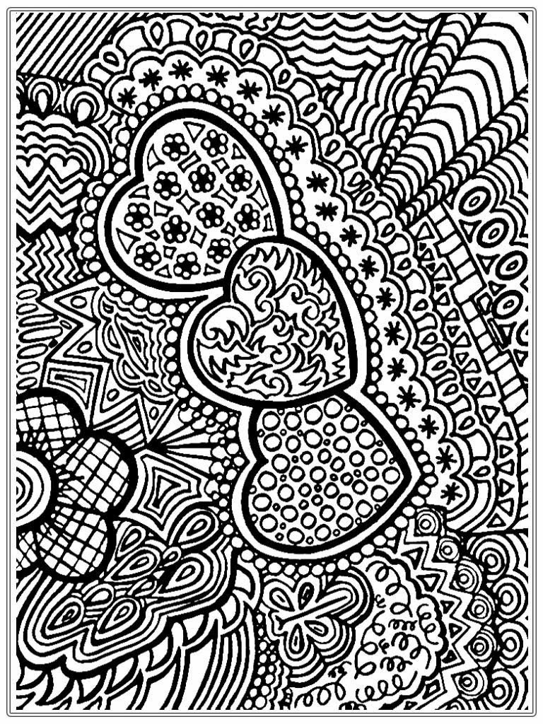 Printable Coloring Pages For Adults Love : Heart pictures to color for adult realistic coloring pages
