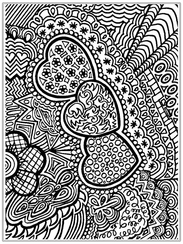 Free Printable Adult Coloring Pages Hearts