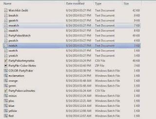 run batch file COLOR-PartyPoker.bat