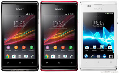 Full Specs of Sony Xperia E