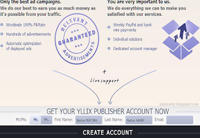 Cara Mendaftar Yllix dan Pasang Iklannya di Blog