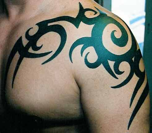 Tribal Shoulder Tattoos - 08