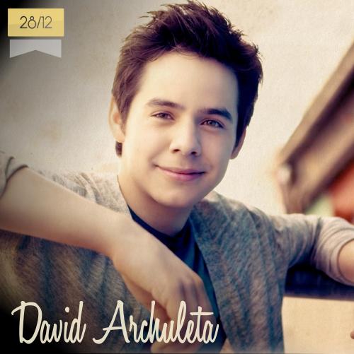 28 de diciembre | David Archuleta - @DavidArchie | Info + vídeos