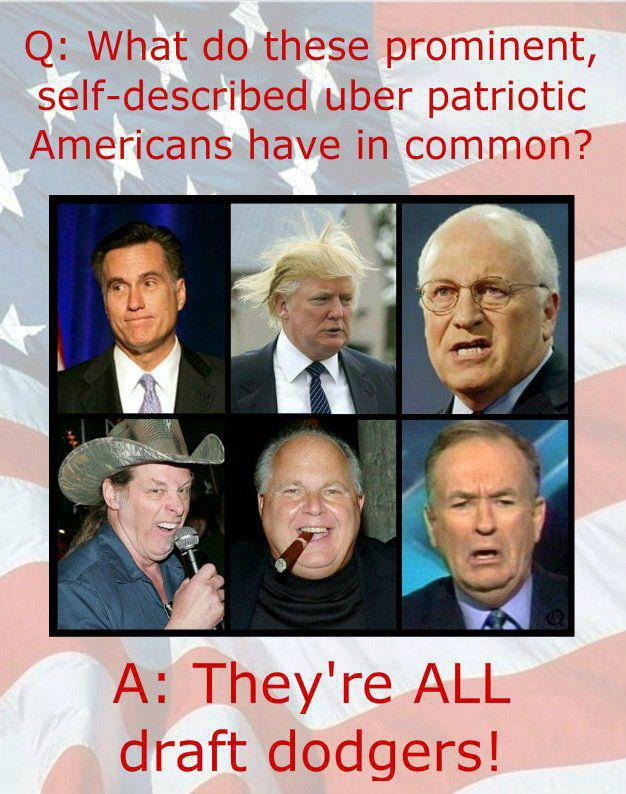 Democrat draft dodgers