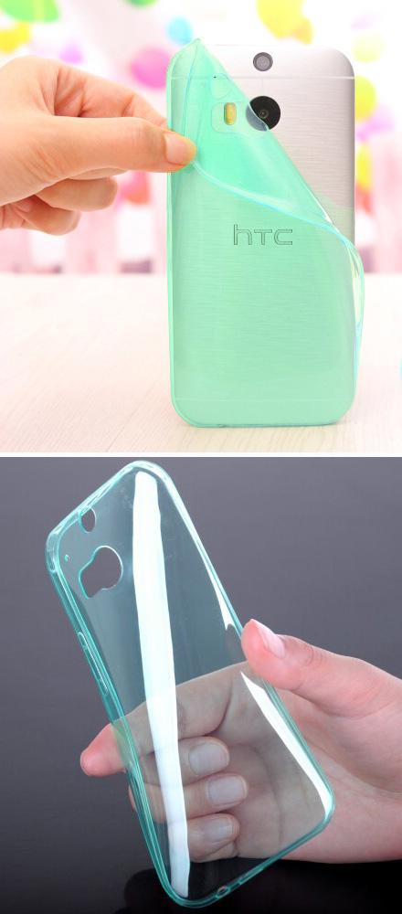 เคส HTC One M8 : รหัสสินค้า 105059 เนื้อใสเขียว