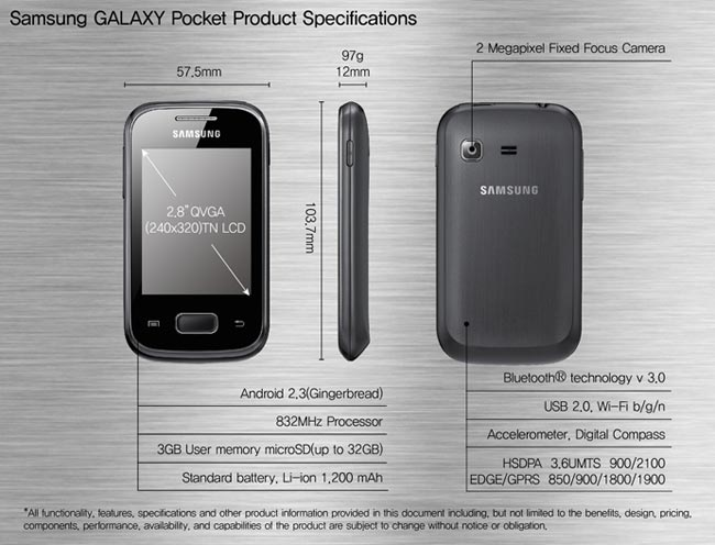 Samsung Galaxy Pocket en videos