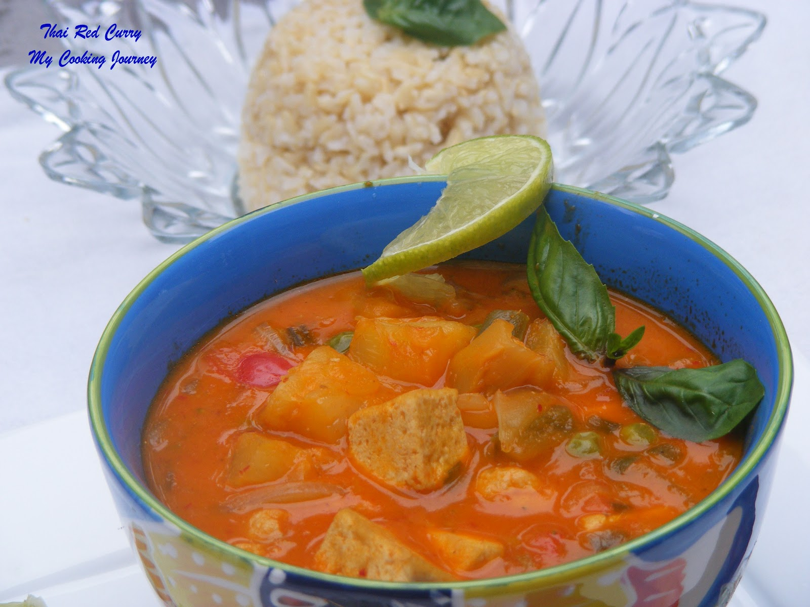 Thai Vegetable and Tofu red Curry (Vegetarian) - My ...