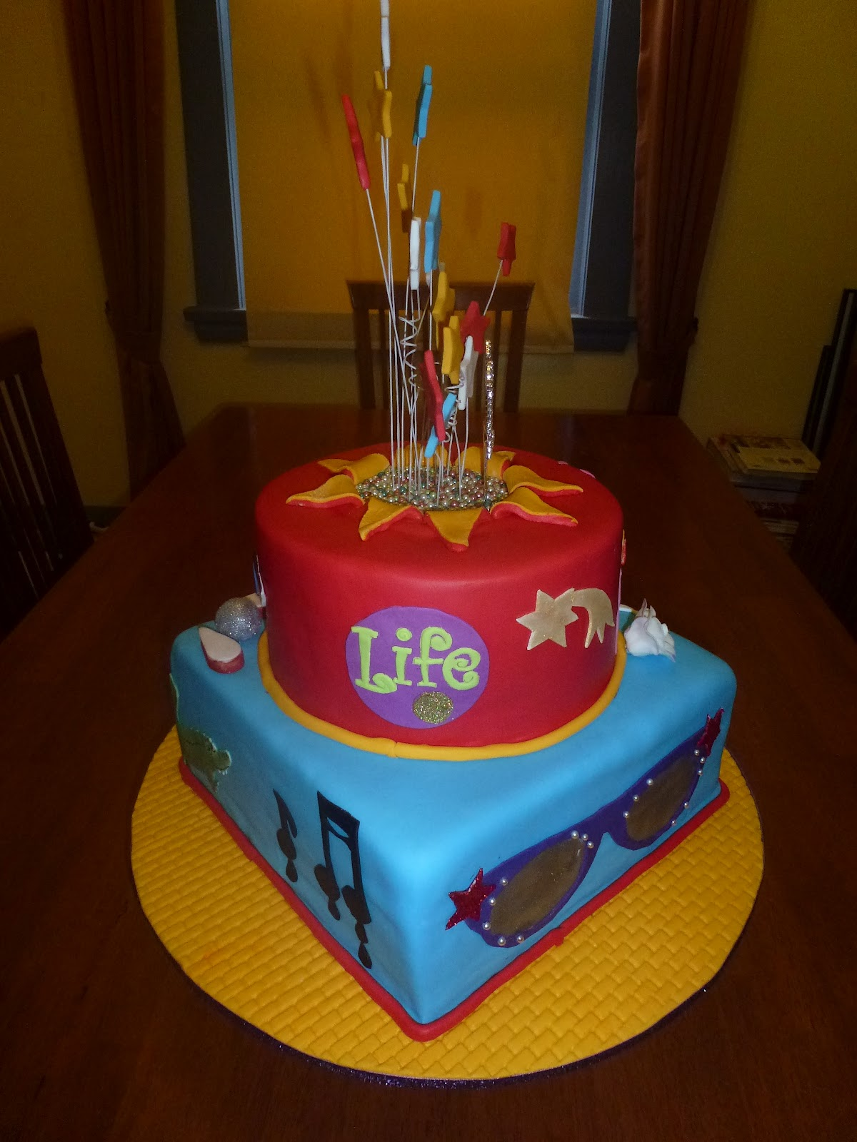 Cakes and Other Delights: Elton John 21st Theme Cake