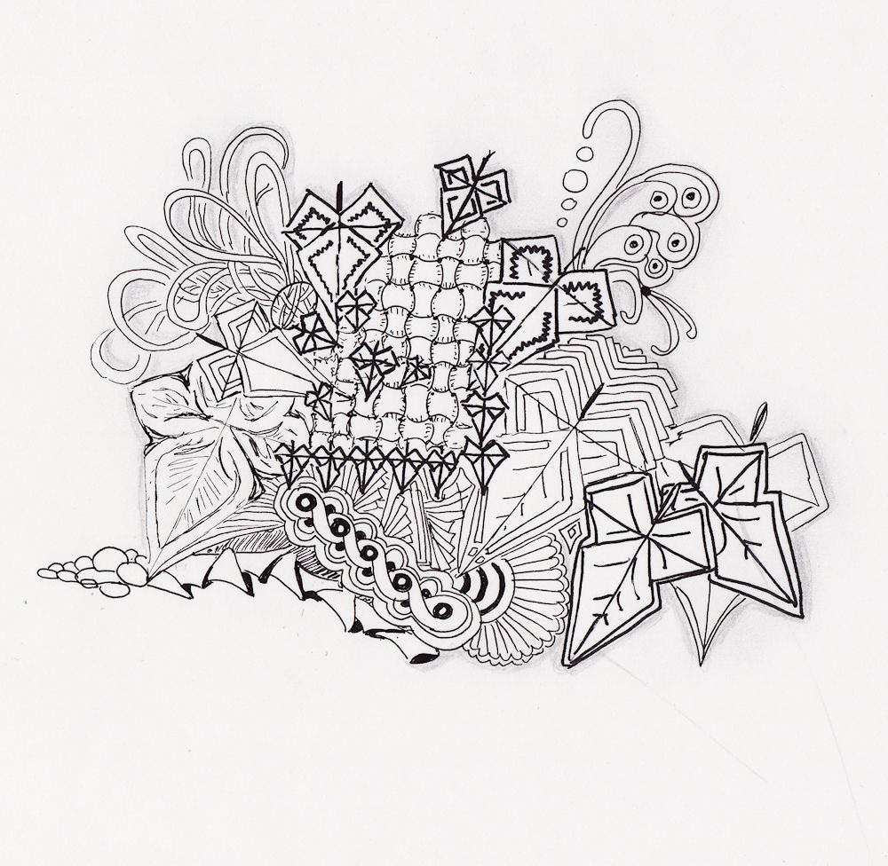 Efie Goes Zentangle Made A Pattern Myself