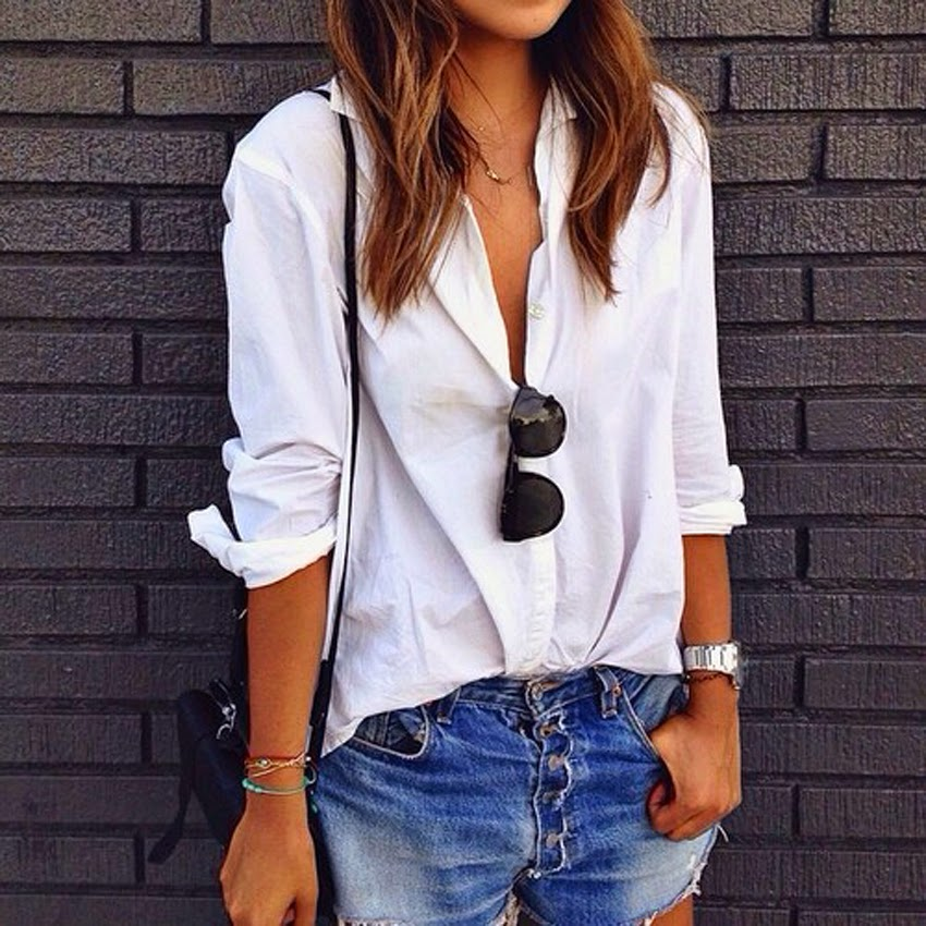 fashion-Style-Blog-Inspiration-Post-Outfit-White T-Denim Shorts