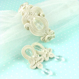 biżuteria ślubna sutasz, soutache, biżuteria sutasz, sutasz