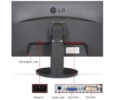 LG IPS231P-BN Widescreen LED Backlight LCD IPS Monitor Input port
