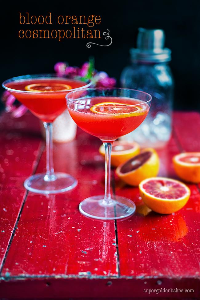 Cocktail friday blood orange cosmopolitan supergolden bakes for Cosmopolitan cocktail