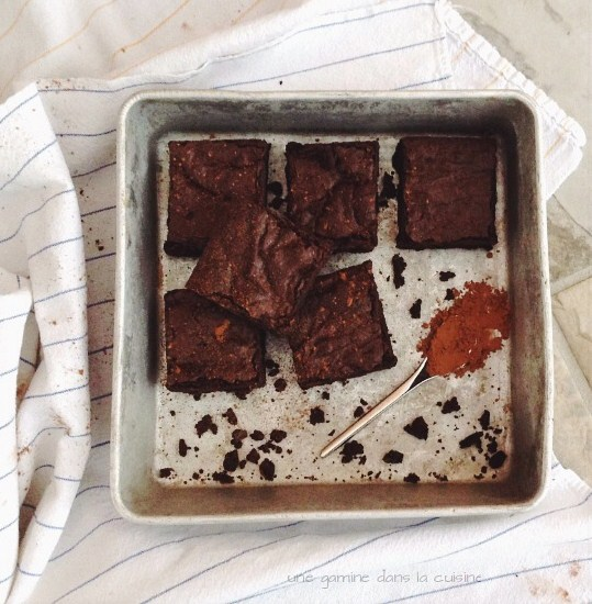 Spiced Cocoa Ginger Brownies | une gamine dans la cuisine