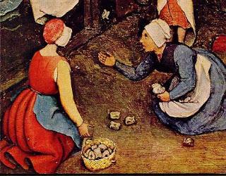 mujeres jugando a las tabas