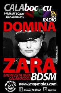 Domina Zara entrevista para Calabococu
