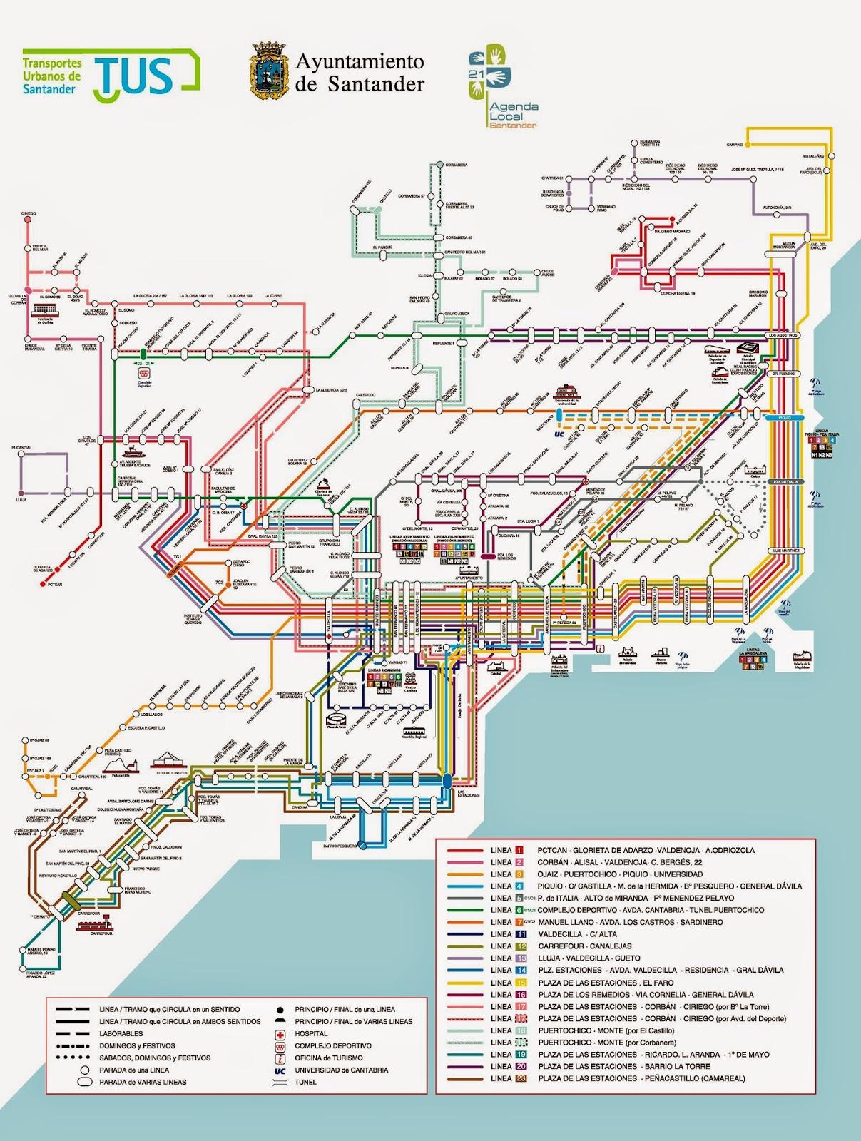 Plano Transportes Santander