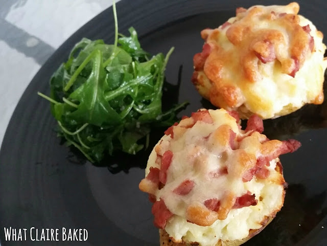 bacon and cheese potato skins