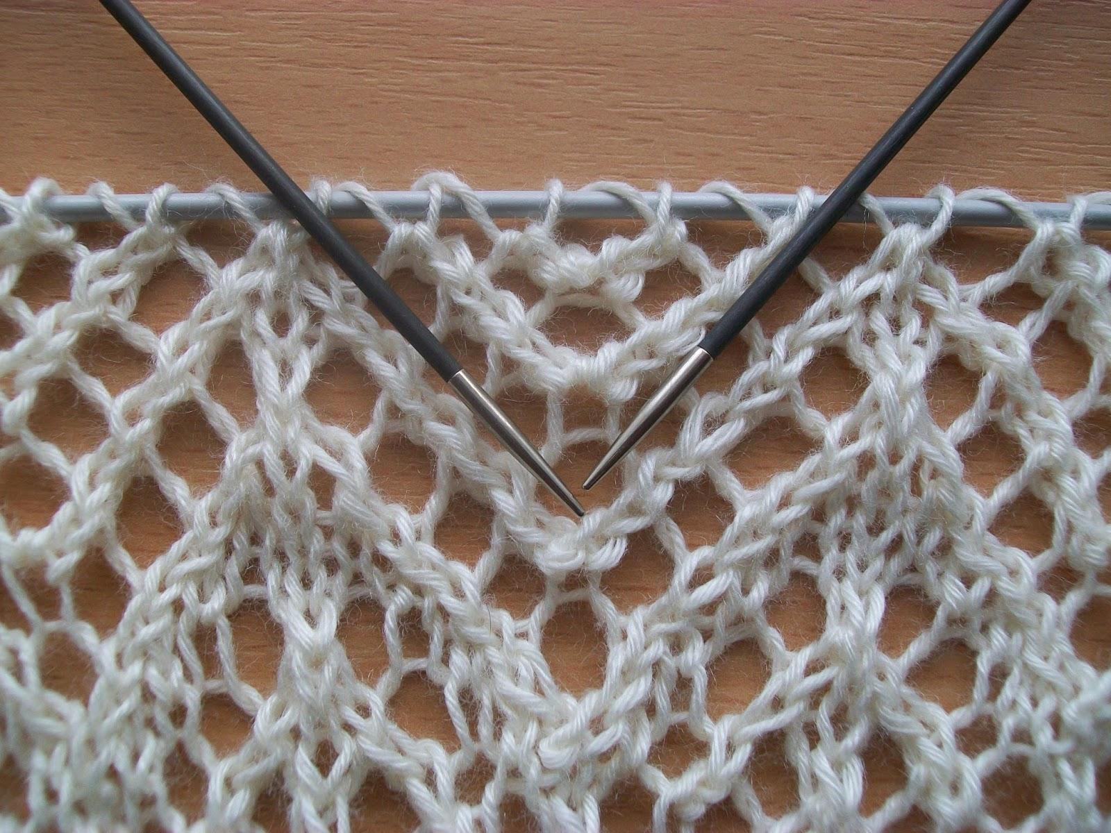 Машинное вязание шаль 41