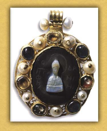 Βυζαντινό ελλειψοειδές εγκόλπιο της Ιεράς Μονής Βατοπαιδίου Αγίου Όρους