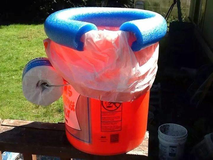 Baño Portatil Pequeno:Cómo hacer un baño portátil en 5 minutos para viajes o campamentos