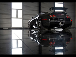 Awesome Dark Bugatti Veylon Reflections HD Wallpaper