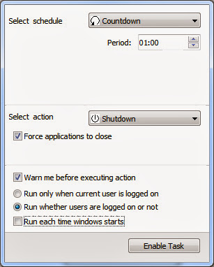 how to set timer to shutdown pc windows 7