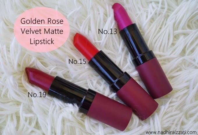 Nadhira izzati malaysian beauty blogger: golden rose cosmetics (review).