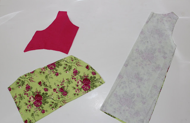 cut pattern pieces