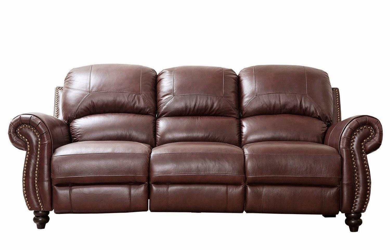 Reclining Sofa Reviews: Italian Leather Reclining Sofa