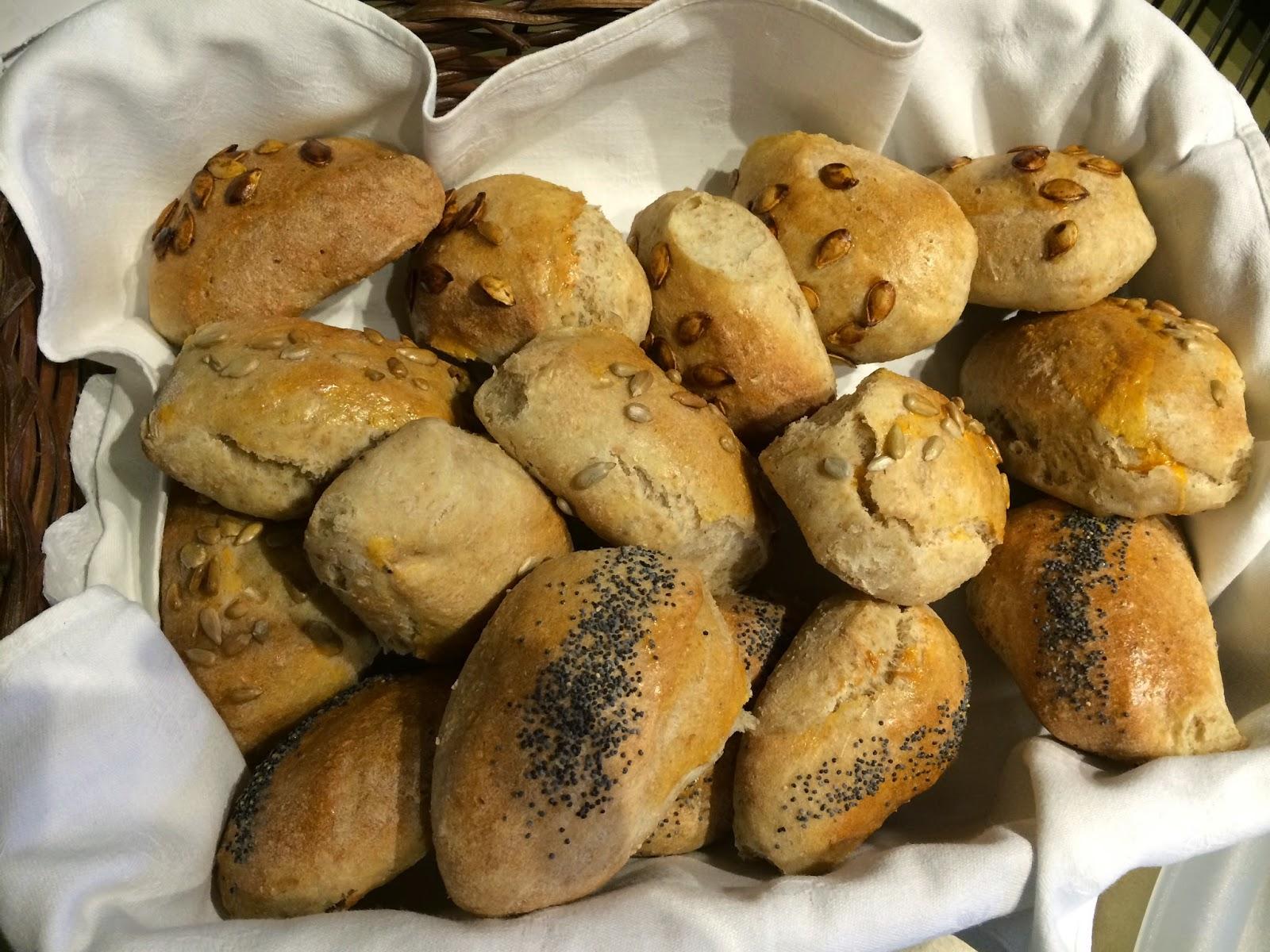 homemade bread rolls