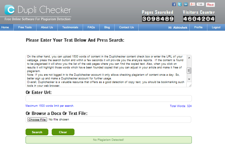 coursework plagiarism checker Plagiarism checker - best for students, teachers, writers & webmasters to check plagiarism percentage report of articles, essays, thesis & webpages.