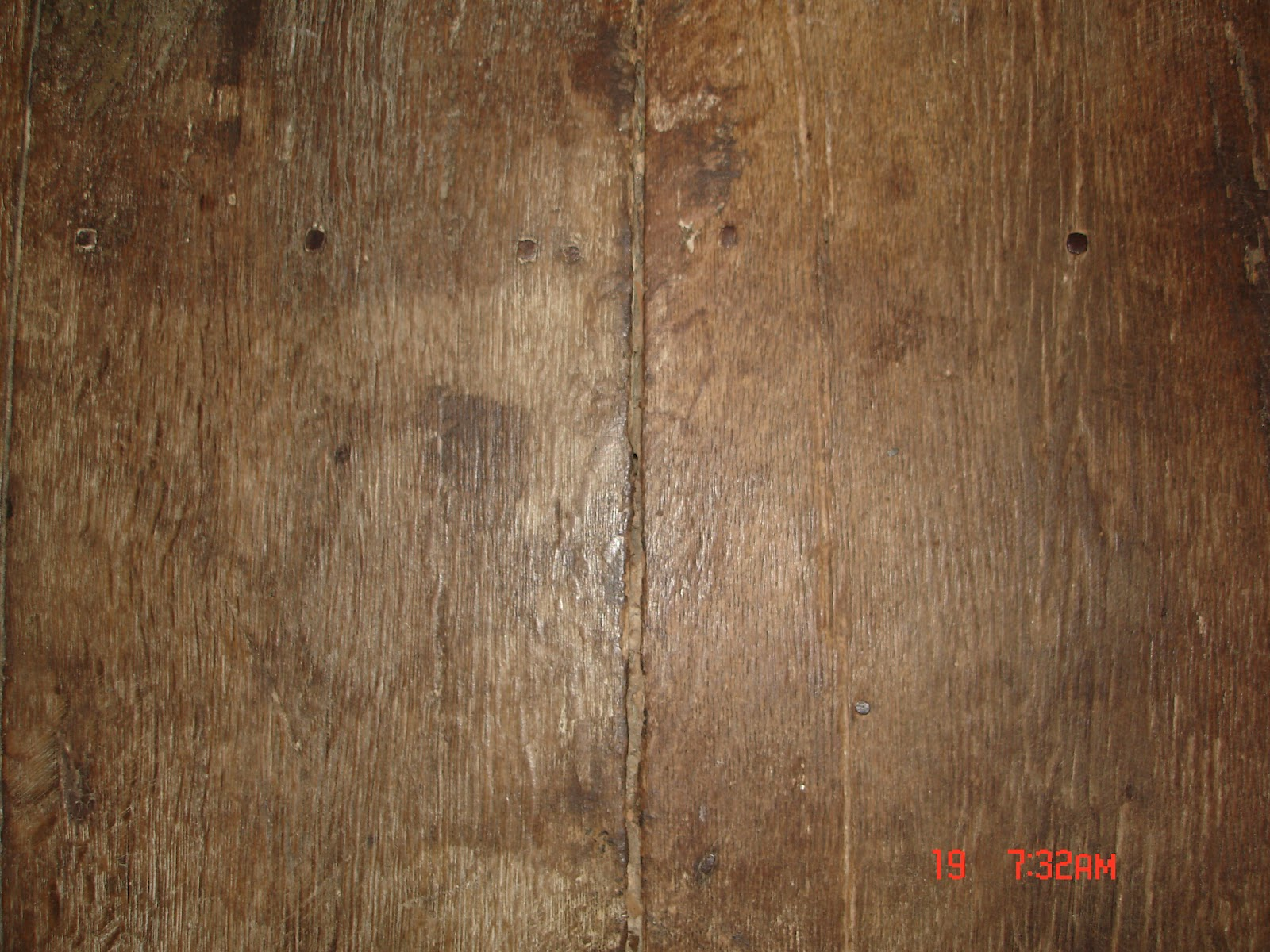 Floor With Milk Paint Now For The Close Up You Can Tell Wood Is Very Worn And Well Loved Definitely Time A Makeover