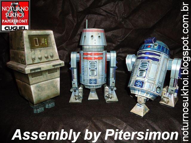 R5 Astromech Droid Papercraft